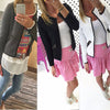 2018 Spring Autumn Women Basic Jacket Long Sleeve Zipper Pockets Slim Short Cardigan Coat
