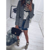 2018 New style women Glen Plaid Blazers Fashion brand jackets ladies Elegant grey outwear