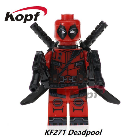 Single Sale Suepr Heroes Deadpool Guy Fawkes Punisher The Antiheroes Bricks Collection