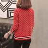 Women Sweater With Buttons Long Sleeve Striped Knitted Cardigan Ladies  Spring 2018