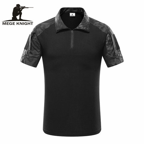Tactical Camouflage Men Army Combat POLO Shirt