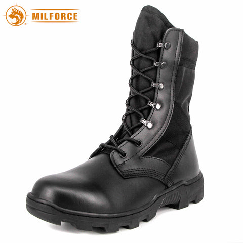 MILFORCE Genuine Leather Black size 6 to 13 Mens Military Boots