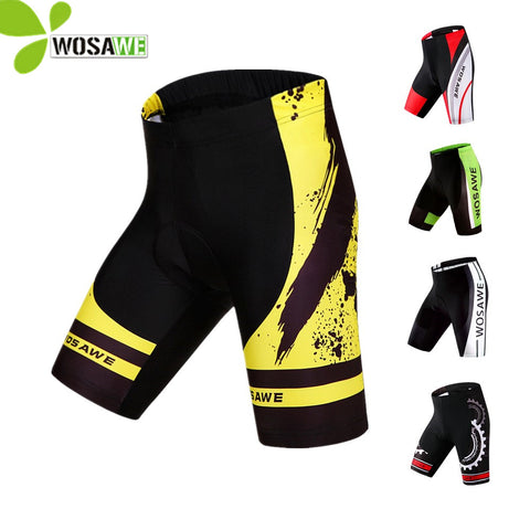 WOSAWE Men's 3D Gel Padded Lycra Cycling Shorts ciclismo downhill MTB Bicycle Bike Outdoor Sports cycling Clothings
