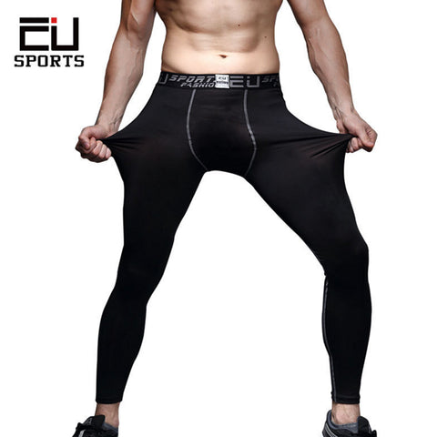 Men Running Pants High Elastic Tights For Sport  TrousersFitness Compression Pants Slim Trousers