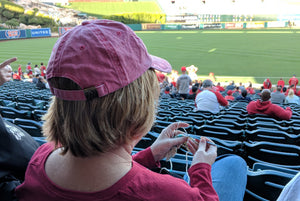Crochet Swatch at Angels Stadium