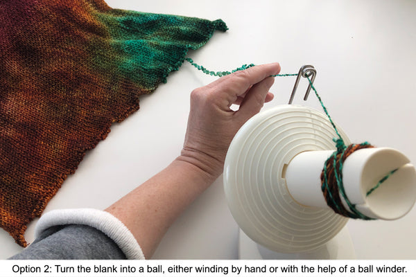 Winding a ball from a yarn blank with a ball winder