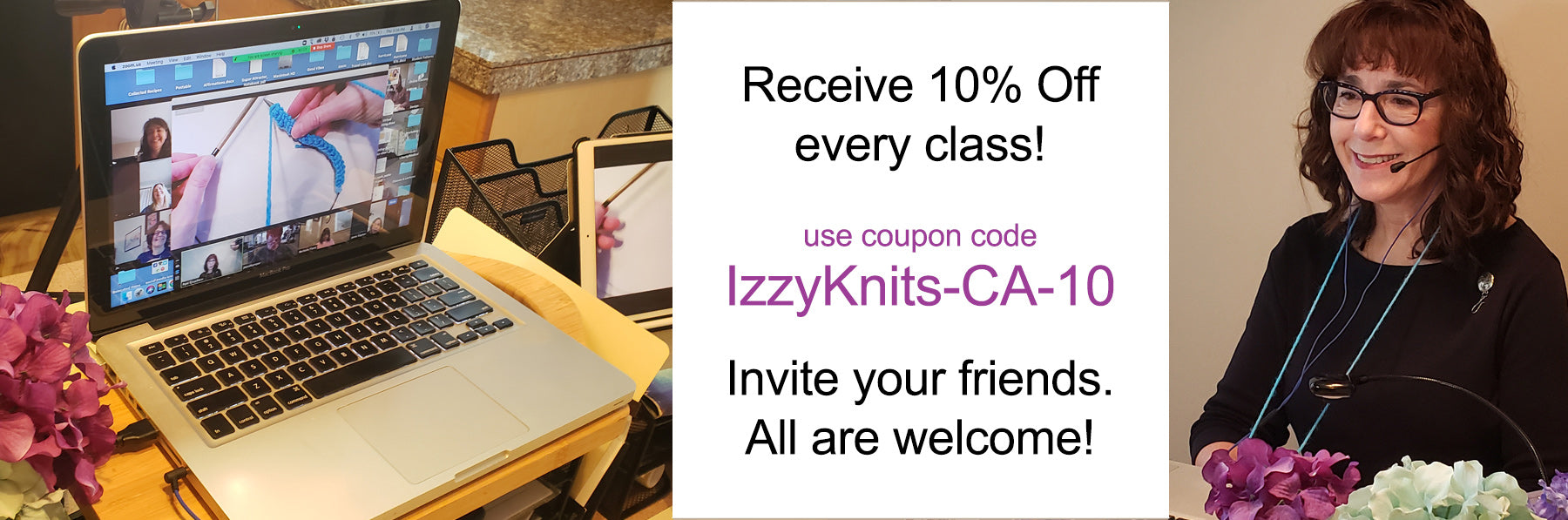 Coupon Code for Online Knitting Classes with Pam Grushkin