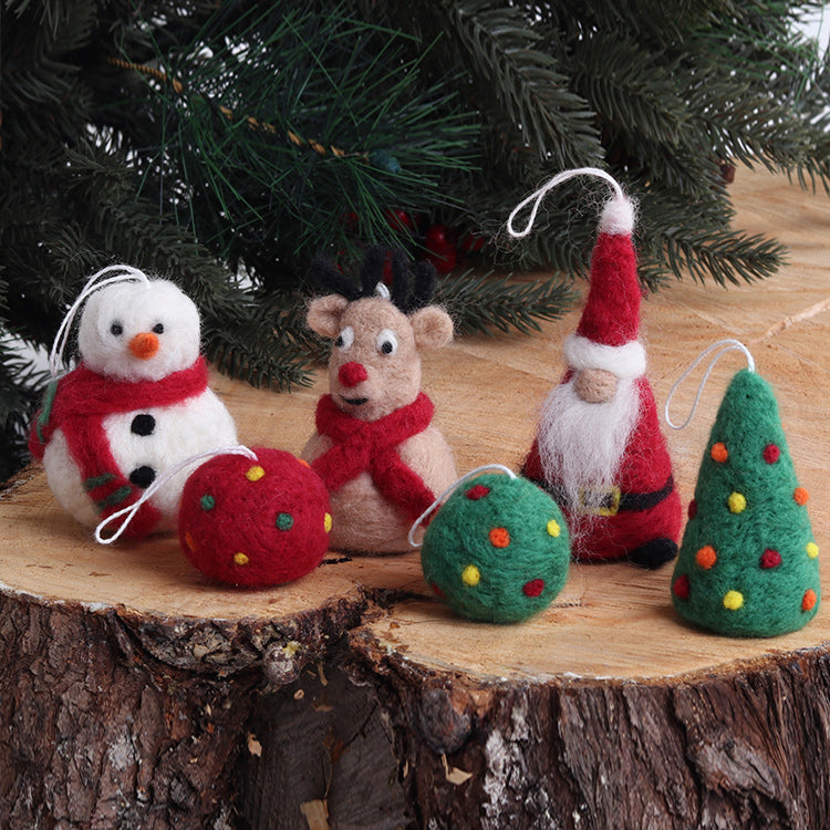 Christmas Ornaments Needle Felting Kit from Ashford Looms