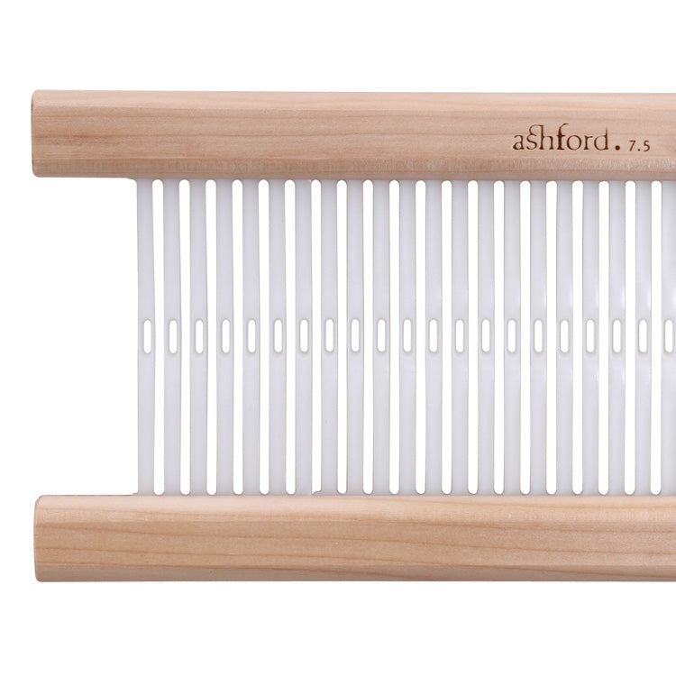 Ashford Rigid Heddles Looms come with one (1) 7.5 dent reed.