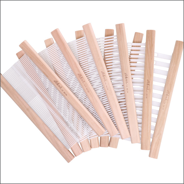 "Multiple different sized Ashford Reeds for 24"" (60cm) Rigid Heddle Loom - sizes 2.5 to 15"