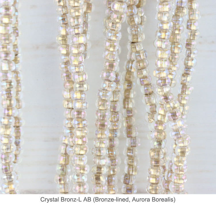 Czech glass beads 6/0 - Crystal Bronz-L AB