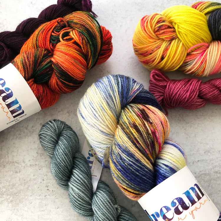 Dream in Color Sock Kits with Contrasting Heel, Toe, and Trim
