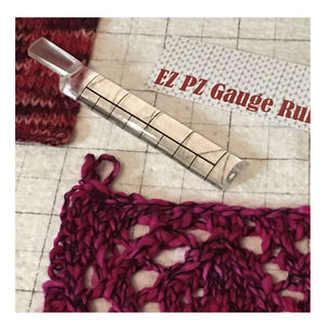 EZ PZ Gauge Ruler - a knitting, crochet must have!