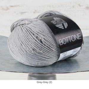 Lana Grossa Bottone Yarn - DK / Light Worsted - Grey-Grey (2)