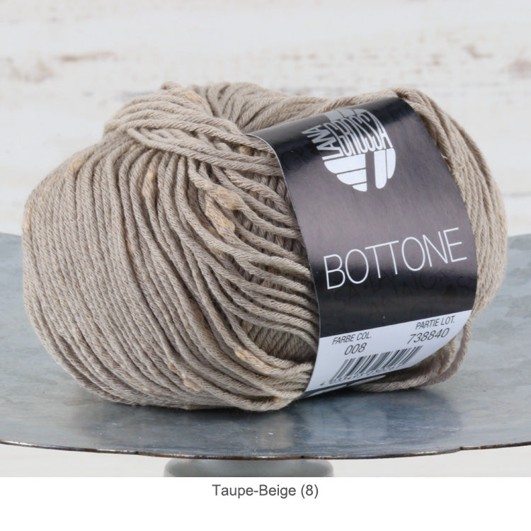 Lana Grossa Bottone Yarn - DK / Light Worsted - Taupe-Beige (8)