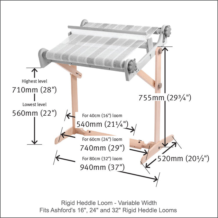 Ashford's Rigid Heddle Loom Stand with Variable Width