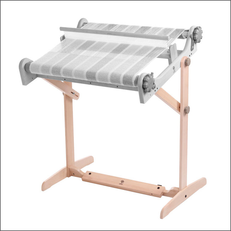 Ashford's Rigid Heddle Loom Stand with Variable Widths against a white background