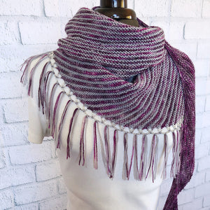 Turicum Shawl designed by Ariane Gallizzi  adorned with 6/0 Czech Beads