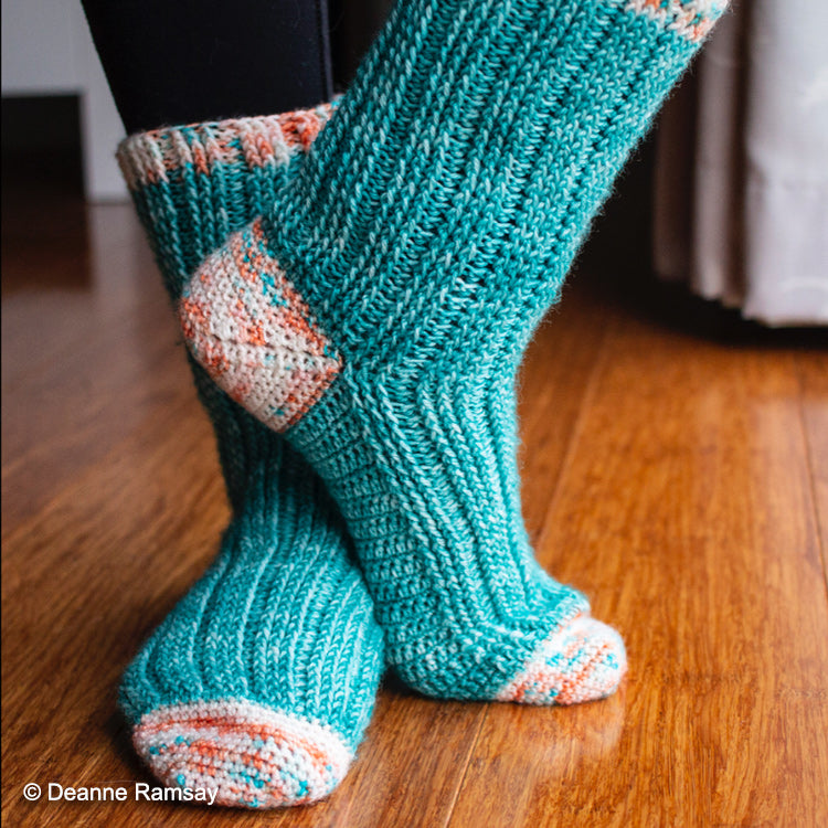 Segue Socks - Crochet Pattern