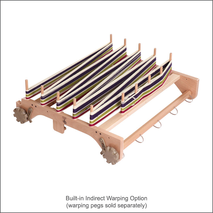 "16"" Rigid Heddle Loom from Ashford comes with a built-in indirect warping option"
