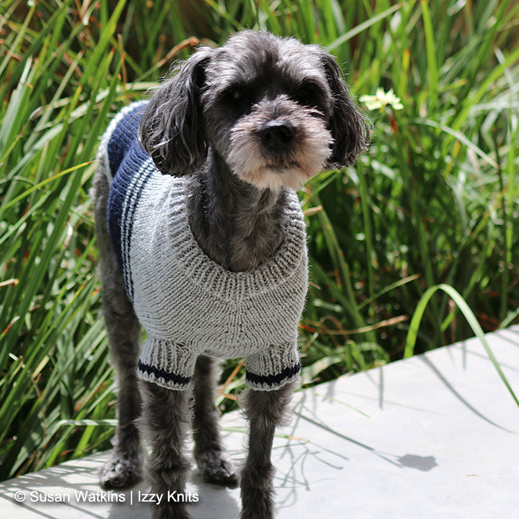 I'm a Fan! Colorblock Dog Sweater,  Knit Pattern - NFL Team Colors