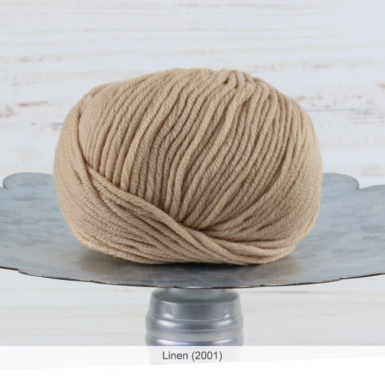 Trendsetter's Merino VIII superwash wool yarn in Linen (2001)