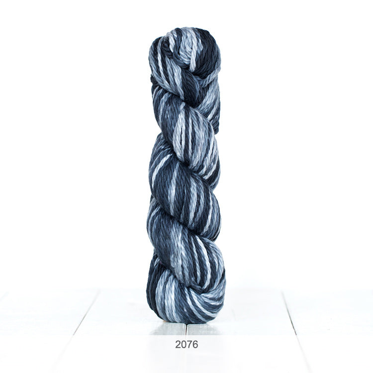 One skein of Urth Galatea Self-Striping Bulky 100% Cotton Yarn in color #2076