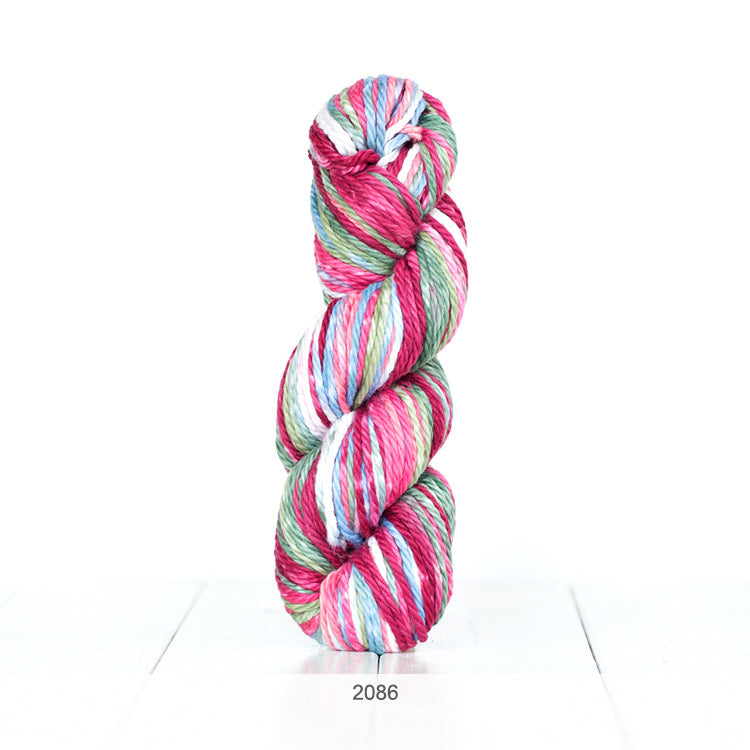 One skein of Urth Galatea Self-Striping Bulky 100% Cotton Yarn in color #2086