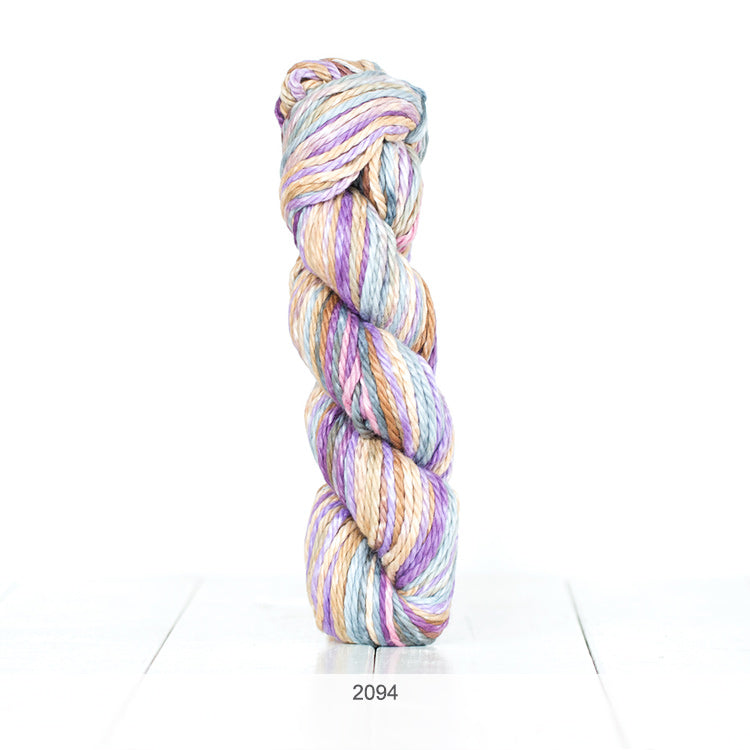 One skein of Urth Galatea Self-Striping Bulky 100% Cotton Yarn in color #2094