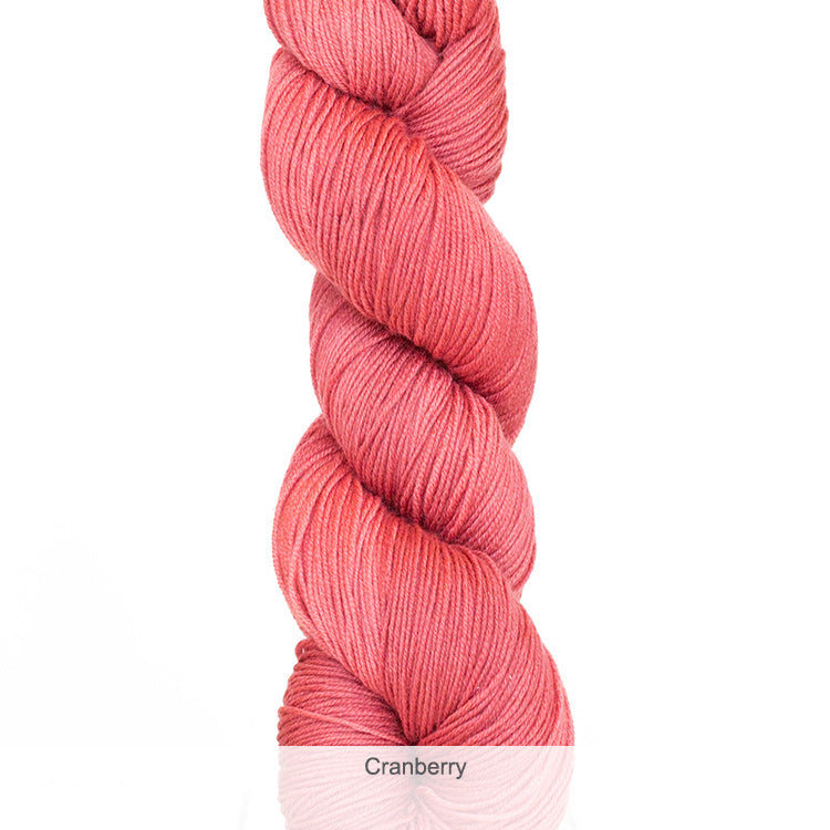 Urth Yarn's Harvest Fingering 100% Extrafine, Superwash Merino Yarn - Cranberry