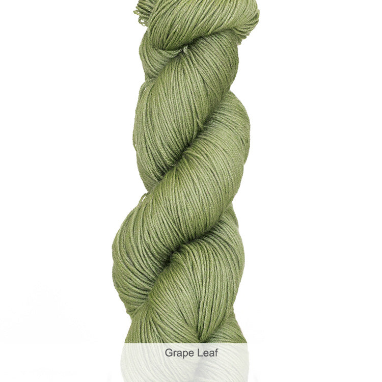 Urth Yarn's Harvest Fingering 100% Extrafine, Superwash Merino Yarn - Grape Leaf