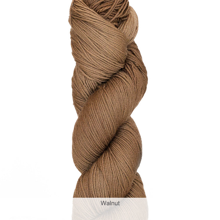 Urth Yarn's Harvest Fingering 100% Extrafine, Superwash Merino Yarn - Walnut