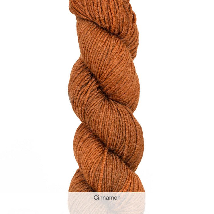 Urth Yarn's Harvest Worsted 100% Extrafine, Superwash Merino Yarn - Cinnamon