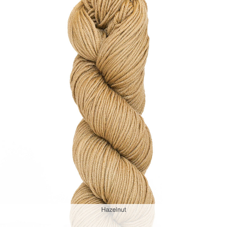Urth Yarn's Harvest Worsted 100% Extrafine, Superwash Merino Yarn - Hazelnut
