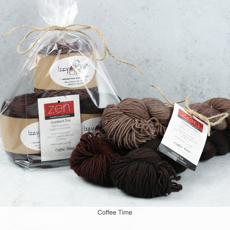 Merino Gradient Trios from Zen Yarn Garden - Coffee Time
