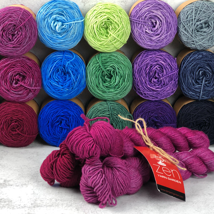 Merino Gradient Trios from Zen Yarn Garden - 3 skeins @ 200yds each