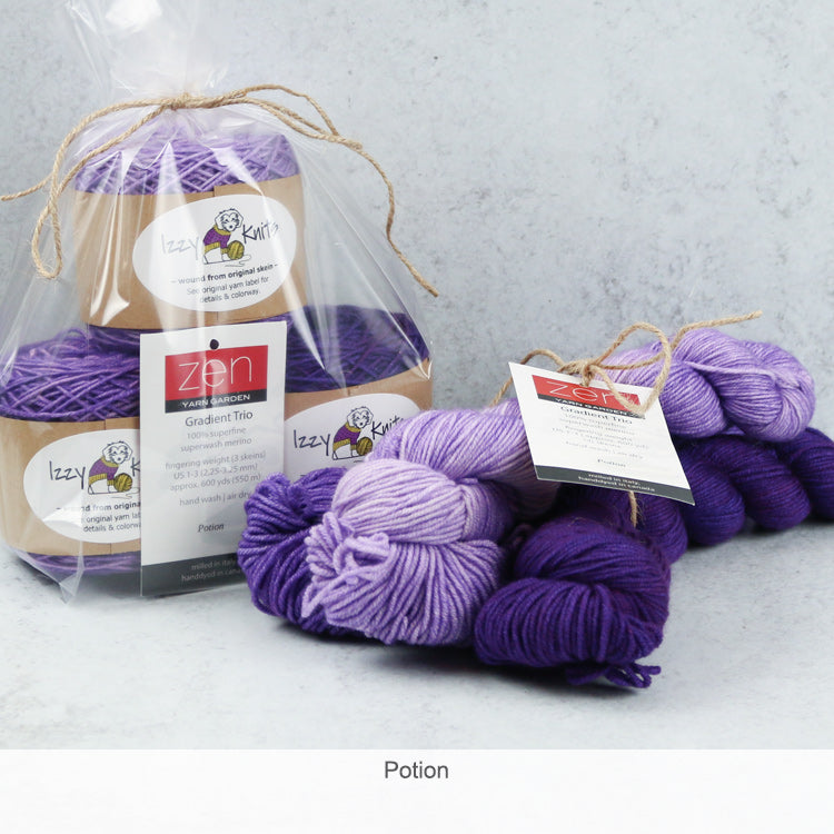 Merino Gradient Trios from Zen Yarn Garden - Potion