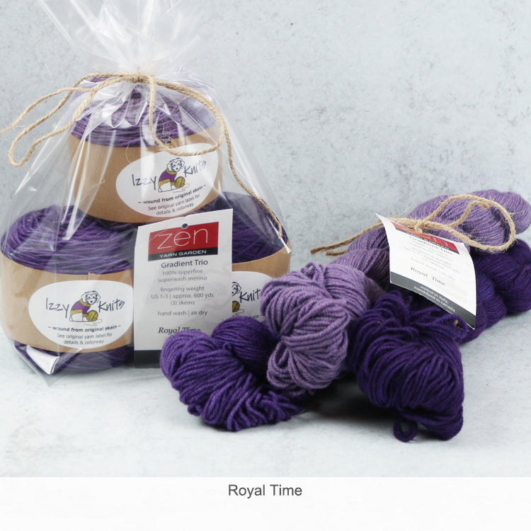 Merino Gradient Trios from Zen Yarn Garden - Royal Time