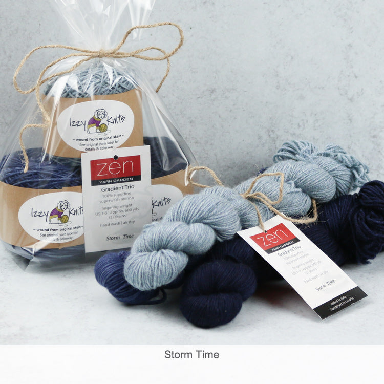 Merino Gradient Trios from Zen Yarn Garden - Storm Time