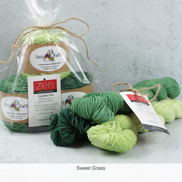 Merino Gradient Trios from Zen Yarn Garden - Sweet Grass