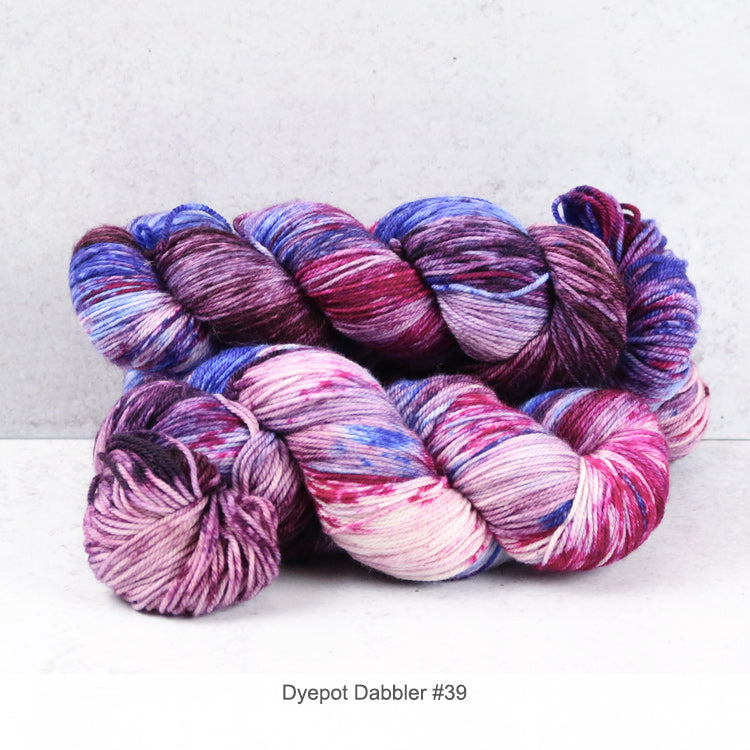 2 skeins of Zen Yarn Garden's Superfine Fingering - Dyepot Dabbler Series - in color #39