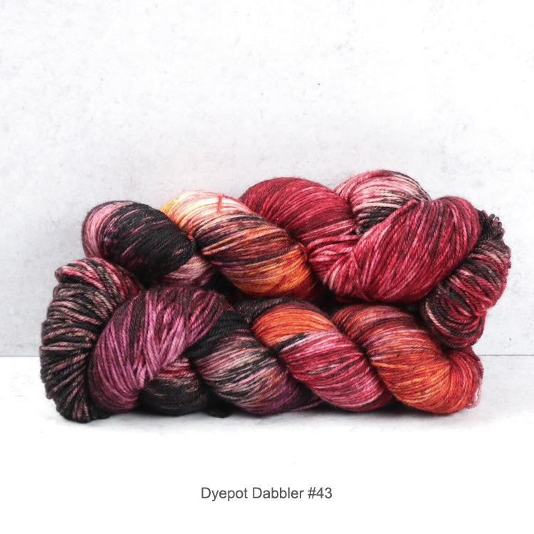 2 skeins of Zen Yarn Garden's Superfine Fingering - Dyepot Dabbler Series - in color #43