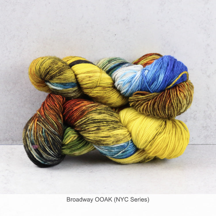Zen Yarn Garden Superfine Fingering Yarn - Broadway OOAK