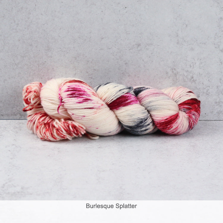Zen Yarn Garden Superfine Fingering Yarn - Burlesque Splatter