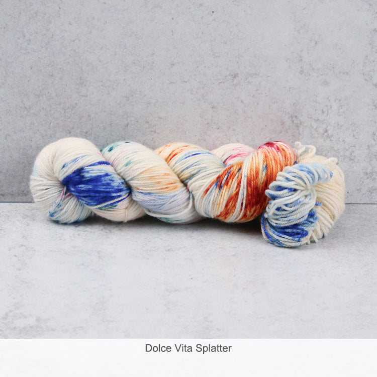 Zen Yarn Garden Superfine Fingering Yarn - Dolce Vita Splatter