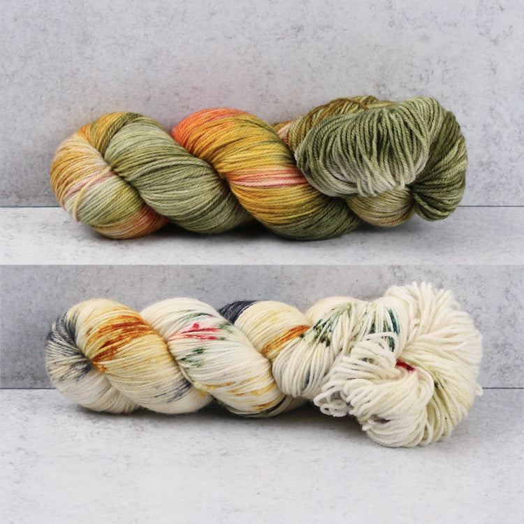 Zen Yarn Garden Superfine Fingering Yarn - Full Color & Coordinating Splatters