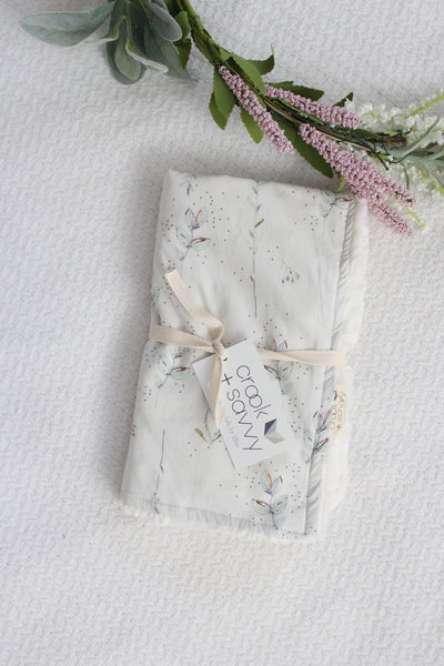Mini Blanket - Meadow, Ivory Faux Fur