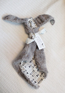 Bunny Lovey - Crescent moon, Gray Faux Fur