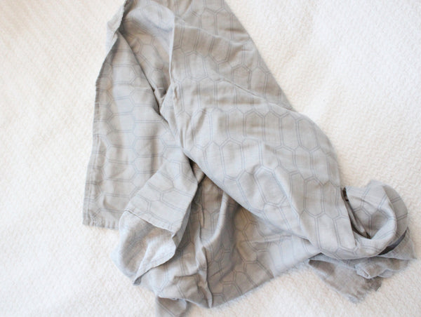 Swaddle blanket - Honeycomb Gray