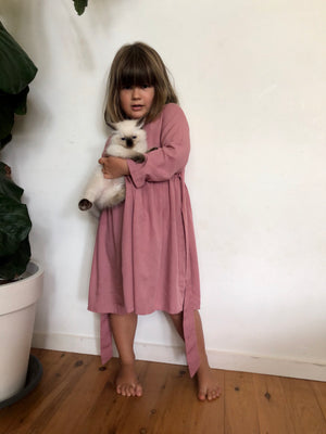 Ruby Long Sleeved Dress Dusty Rose